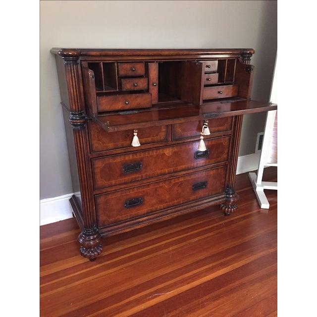 Hickory White Mahogany Highboy Dresser - Image 4 of 5
