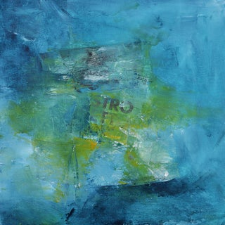 """""""Stro"""" Contemporary Abstract Mixed-Media Painting For Sale"""