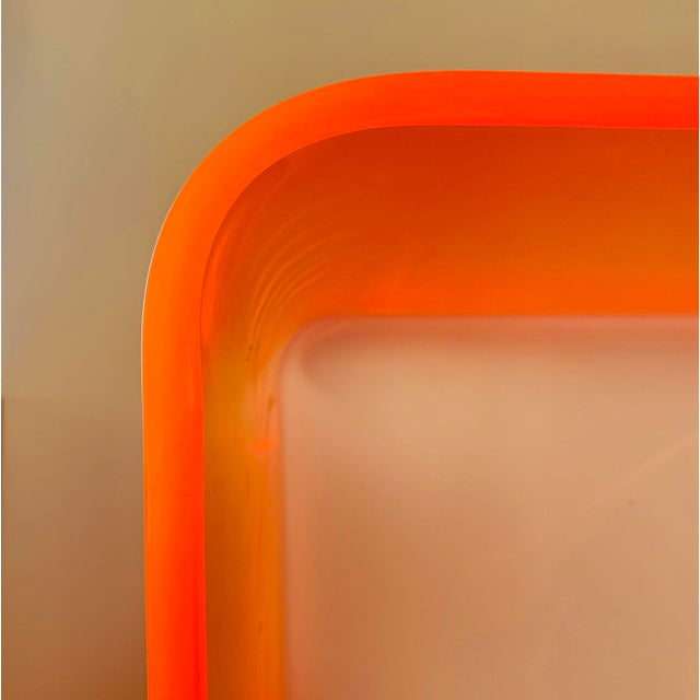 "2010s ""The Side Piece"" Side Table in Neon Orange For Sale - Image 5 of 7"