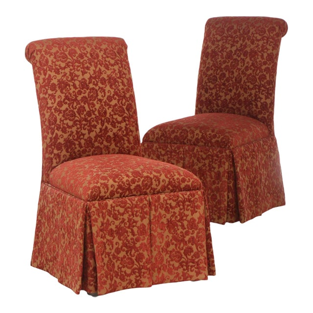 Designmaster Furniture of North Carolina Upholstered Dining Chairs - a Pair For Sale