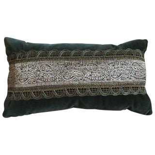 Vintage French Ribbon Pillow For Sale