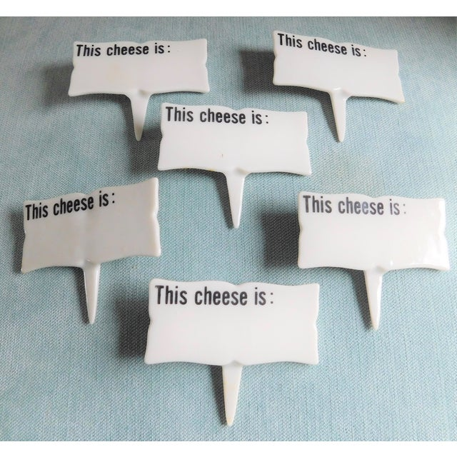 Mid-Century Porcelain Cheese Markers - Set of Six For Sale - Image 9 of 9