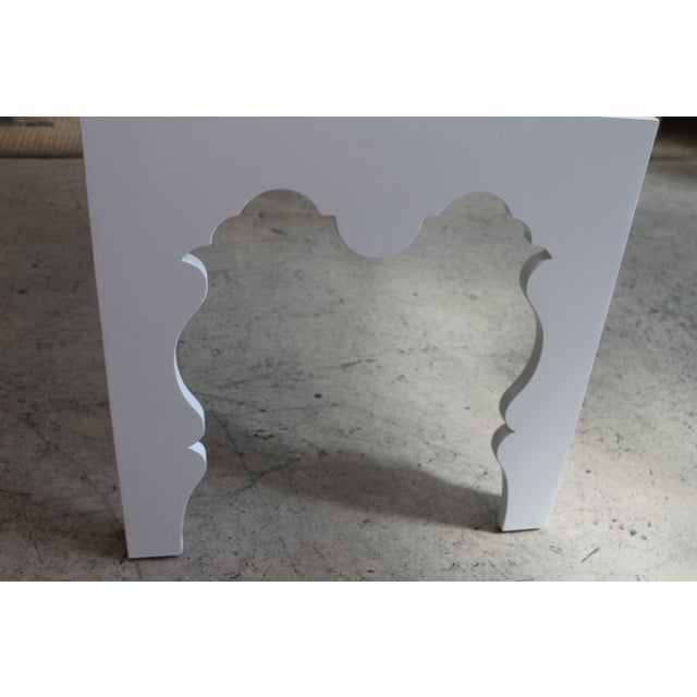 White Lacquered Coffee Table - Image 6 of 7