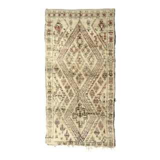 """Vintage Moroccan Beni Ourain Rug - 5' x 10'2"""" For Sale"""