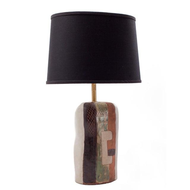 Marianna von Allesch (1886-1972) Biomorphic ceramic table lamp by German-born ceramicist and glassmaker Marianna von...