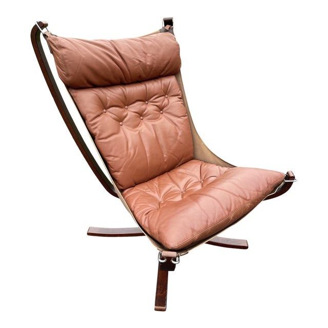 Mid 20th Century Vatne Mobler Tall Falcon Chair For Sale
