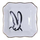 Image of Hunt Slonem Bunny Portrait Plates - Set of 2 For Sale