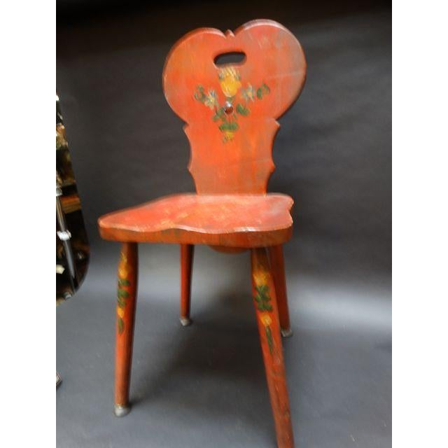 Monterey Classic Red Keyhole Chair - Image 3 of 8