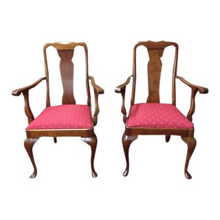Vintage Stickley Queen Anne Arm Chairs - a Pair For Sale