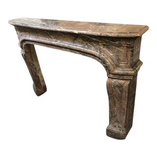 Antique Louis XIV Style Fireplace in Enjugerais Marble For Sale
