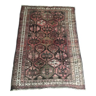 Vintage Persian Area Rug - 5′5″ × 7′9″ For Sale