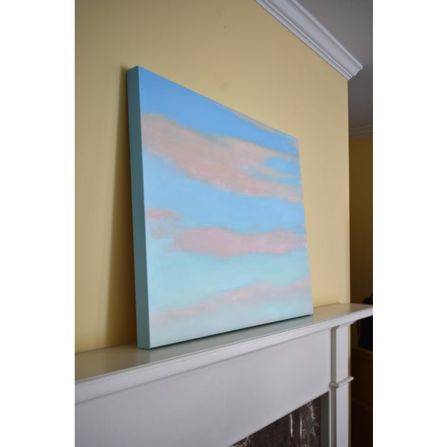 """Canvas Modern """"Layered Clouds"""" Contemporary Painting by Stephen Remick For Sale - Image 7 of 11"""
