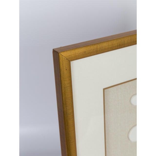 Abstract Framed Vintage Intaglios in Brushed Gold Frame For Sale - Image 3 of 5