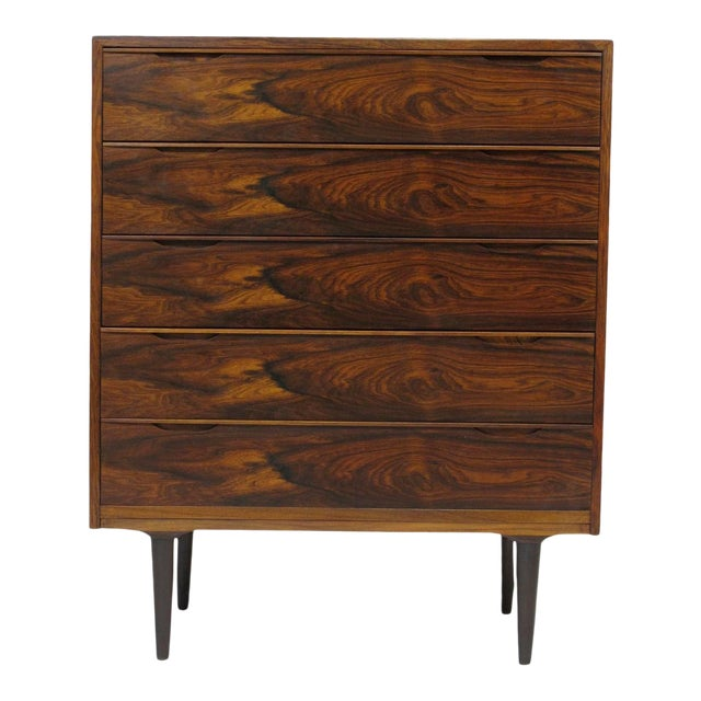 Vintage Mid Century Danish Brazilian Rosewood Chest of Drawers For Sale