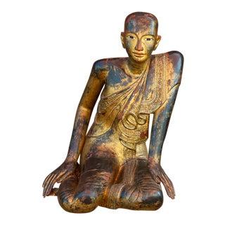 "19th Century Burmese ""Sariputra"" Buddhist Statue For Sale"