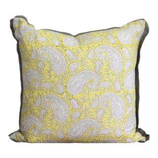 Cotton Block Print Pillow For Sale