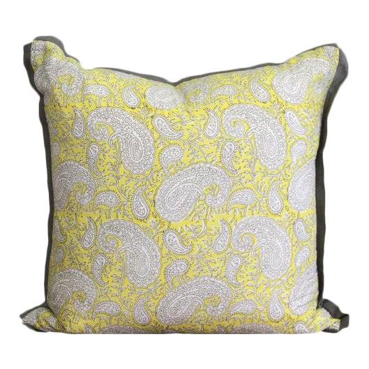 Cotton Block Print Pillow For Sale