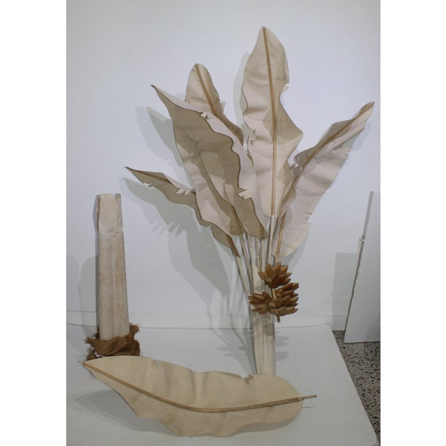 "Canvas Mid-Century Modern 91"" Banana Tree For Sale - Image 7 of 13"