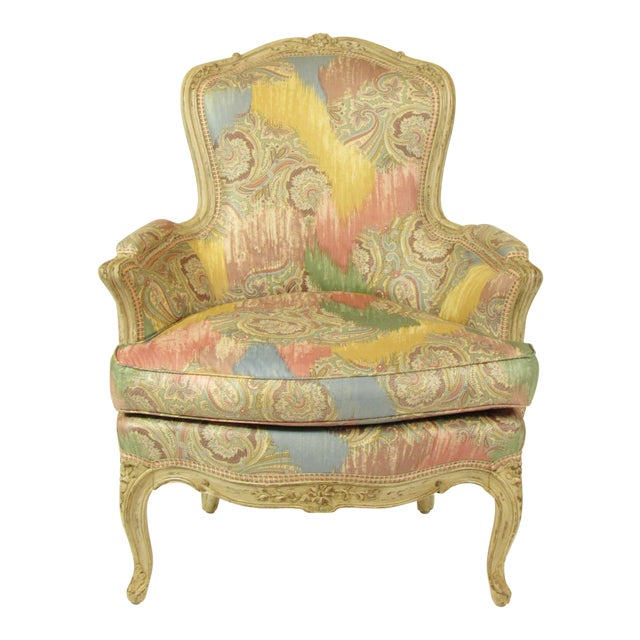 Louis XV-Style Painted Bergere For Sale