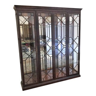 Henredon Rittenhouse Large Display Cabinet For Sale