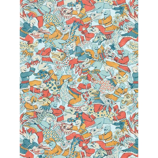 Scalamandre Dragon Dance, Multi Fabric For Sale