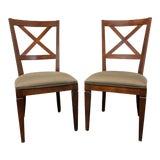 """Image of Ethan Allen """"Elements"""" Maple Dining Side Chairs - Pair 3 For Sale"""