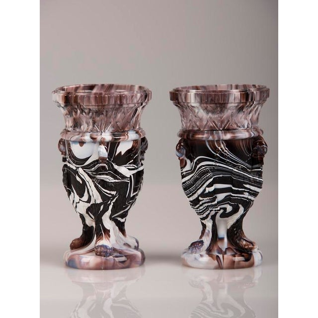 Pair of Northumberland glass vases, England c. 1890. These striking vases are named after the famous glass works...