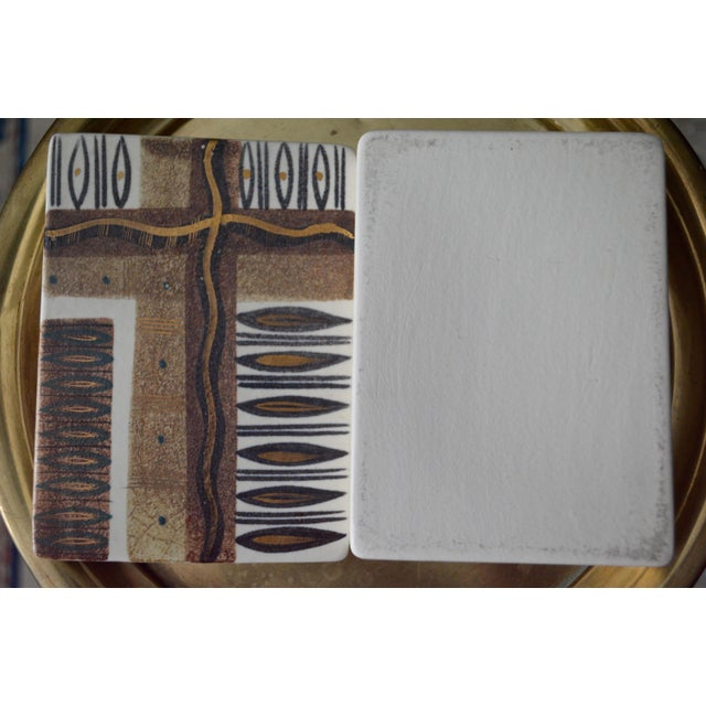 Mid-Century Modern Sascha Brastoff Ceramic Box For Sale - Image 3 of 7