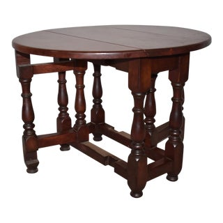 English Mahogany Drop Side Table For Sale
