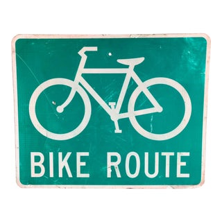 Vintage Bike Route Street Sign