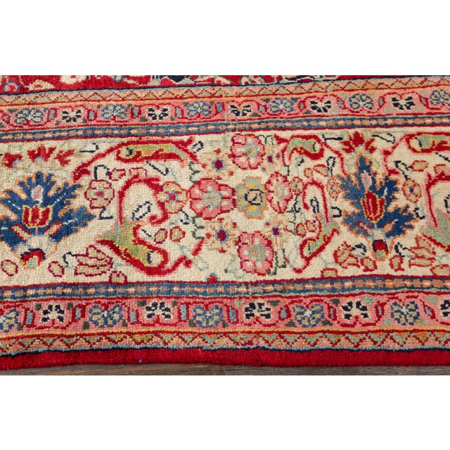 """Antique Mahal Rug, 9'5"""" X 12'8"""" For Sale - Image 4 of 7"""