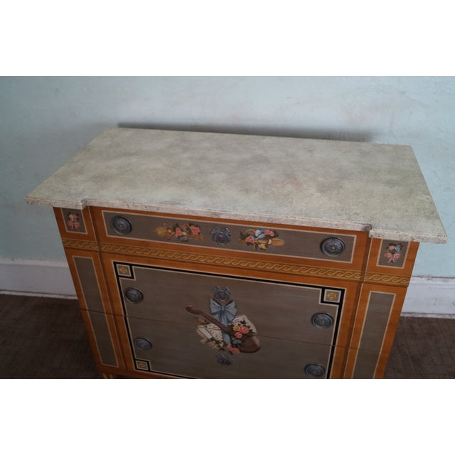 Drexel Heritage Paint Decorated French Style Chest - Image 6 of 10