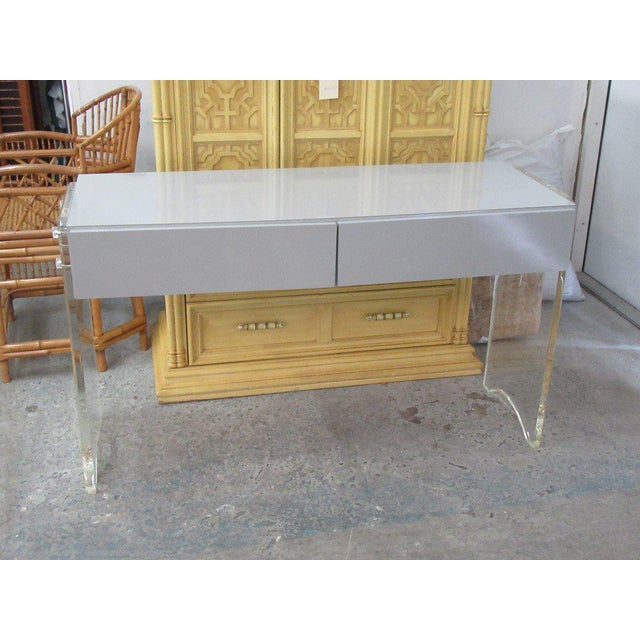 Late 20th Century Lucite & Mica Vanity For Sale - Image 5 of 6