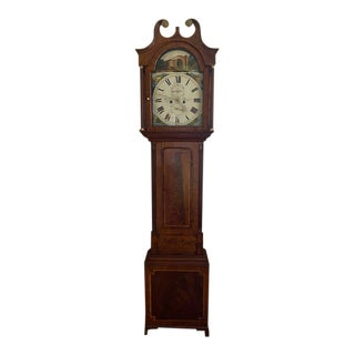 Young of Dundee Mahogany and Rosewood Long Case Grandfather Clock, Early 19th Century For Sale