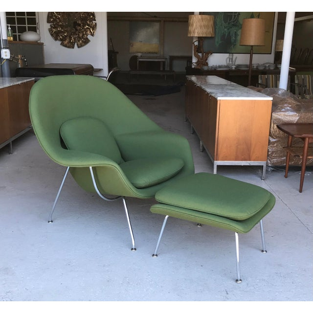 Reupholstered! Knoll Womb Chair Ottoman Eero Saarinen For Sale - Image 13 of 13