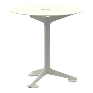 Jackson Cafe Table Round in Pearl For Sale