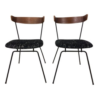1950s Mid-Century Modern Clifford Pascoe Iron and Plywood Dining Chairs - a Pair For Sale