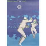 Image of Original Vintage 1972 Munich Olympic Poster, Fencing (Medium Size) For Sale
