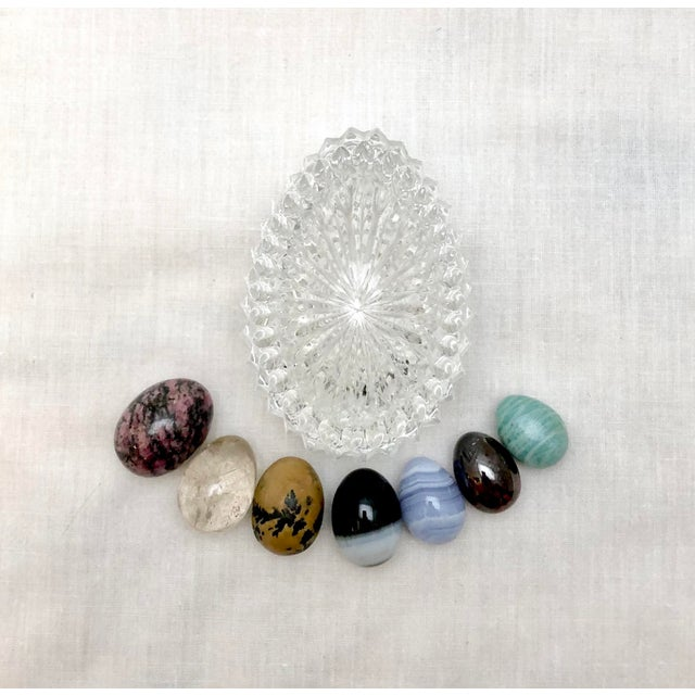 Crystal Egg with Gemstone Eggs, Vintage For Sale - Image 11 of 11