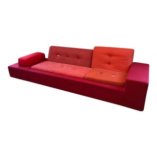 Vitra Polder Red Sofa For Sale