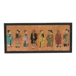 19th Century Framed Chinoiserie Figures