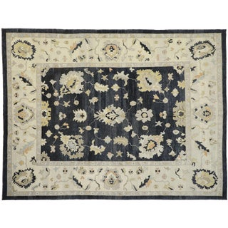 Contemporary Turkish Oushak Area Rug - 11′1″ × 14′8″ For Sale