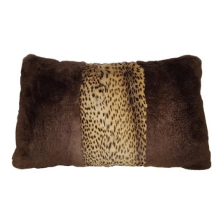 Cat Stripe Sheared Beaver Pillow