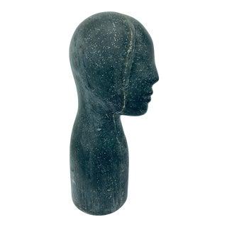 1950s Mid-Century Fiberglass Half Face Sculpture For Sale