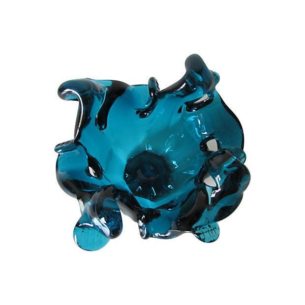 Caribbean Blue Murano Glass Bowl - Image 3 of 4