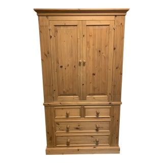A. Furniture Solid Pine Clothing Armoire For Sale