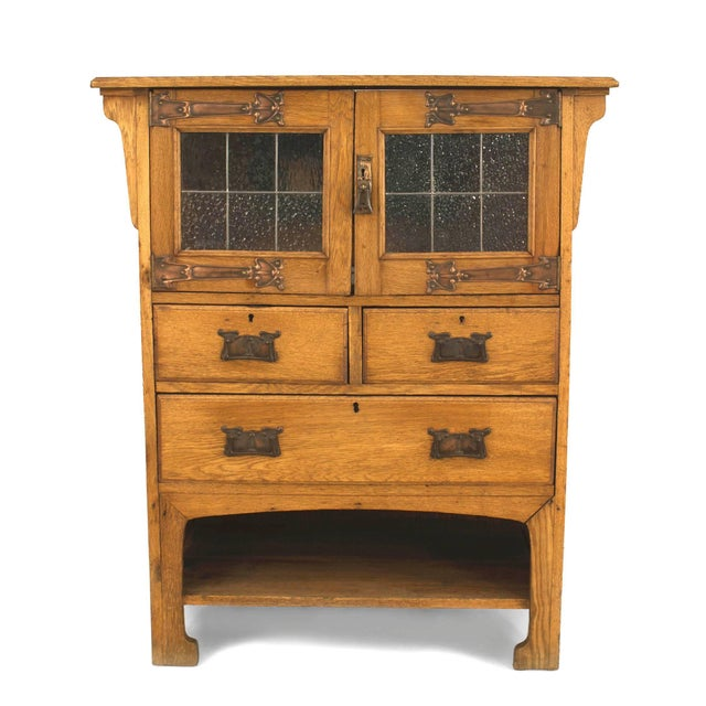 English Arts & Crafts Oak Cupboard Cabinet For Sale - Image 4 of 4