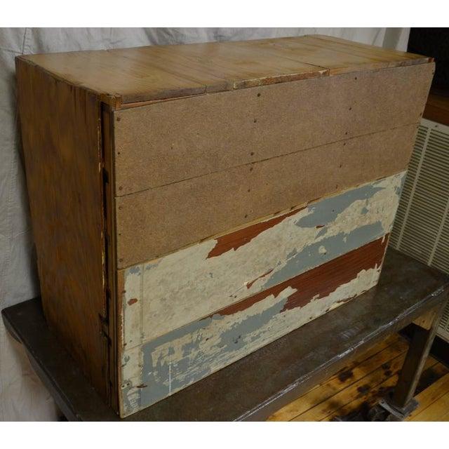 Vintage Handcrafted 15-Drawer Pine Storage Cabinet - Image 10 of 10
