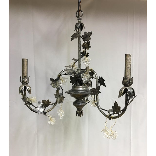 Contemporary Floral John Richard 3 Arm Chandelier For Sale - Image 9 of 9