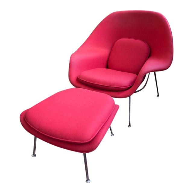Eero Saarinen for Knoll Womb Chair & Ottoman For Sale